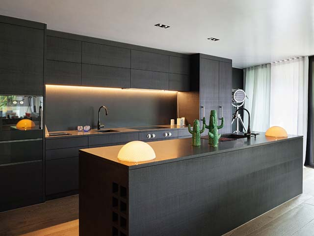 contemporary newly fitted kitchen