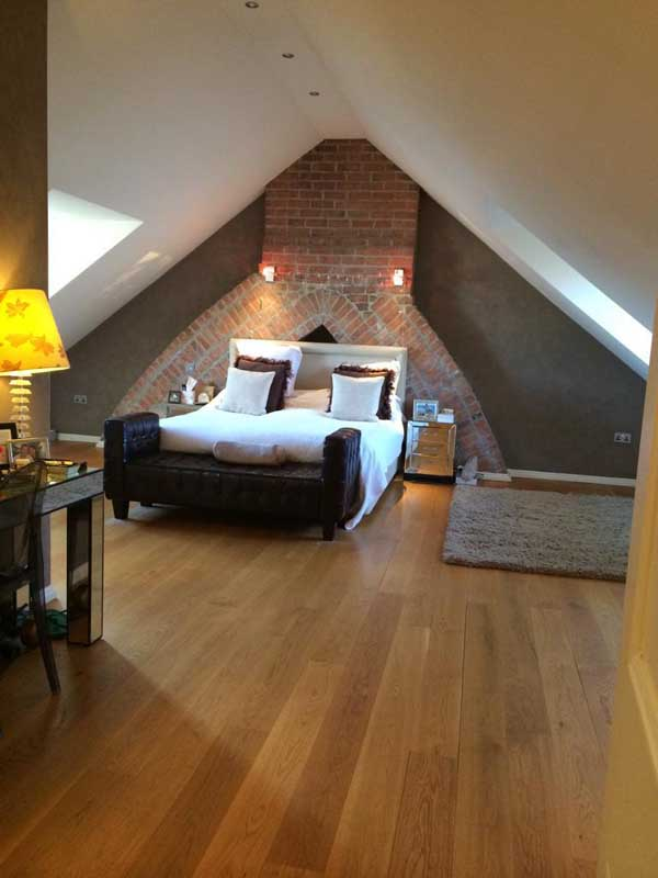 finished bedroom in new loft conversion