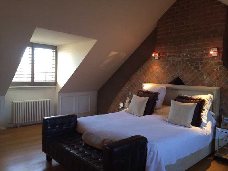loft conversion finished bedroom