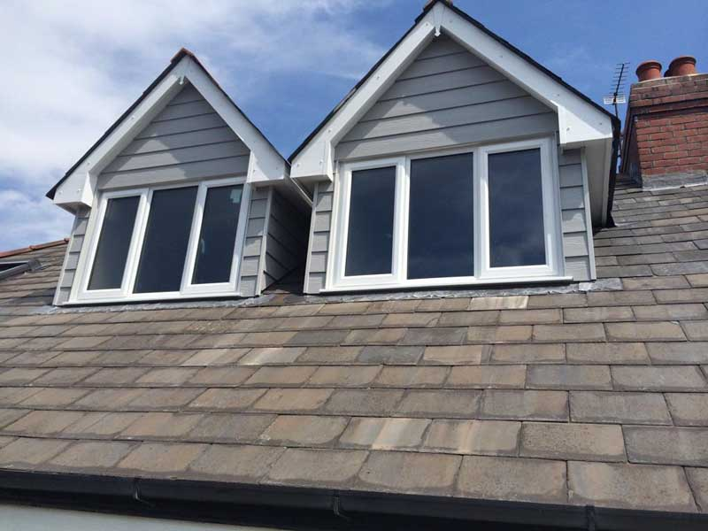 loft conversion with new dormers fitted