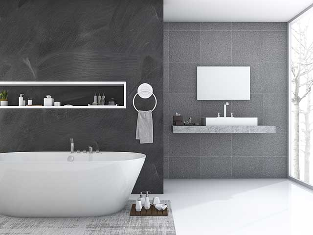 new contemporary bathroom installation